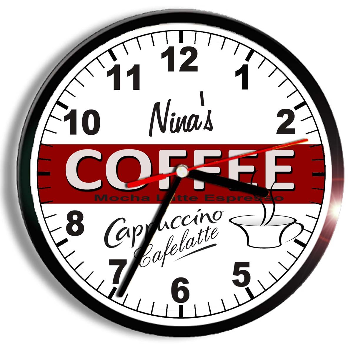 Personalized Coffee Clock